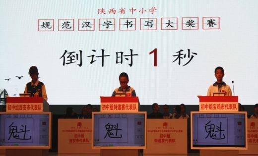 写好中国字:陕西举办2014年中小学规范汉字书写大奖赛